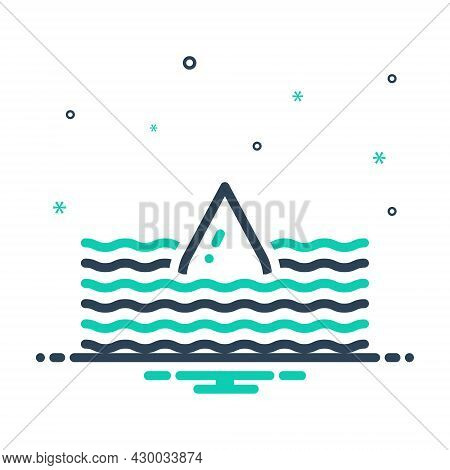 Mix Icon For Deep Submerge Water-wave Flood Torrent Yawning Bottomless Sunk