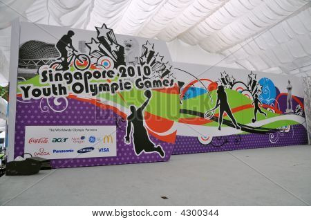 Stage And Backdrop For Youth Olympic Logo Launch