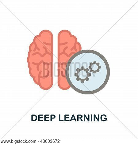 Deep Learning Icon. Flat Sign Element From Data Analytics Collection. Creative Deep Learning Icon Fo