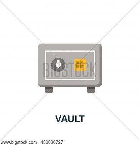 Vault Icon. Flat Sign Element From Data Analytics Collection. Creative Vault Icon For Web Design, Te