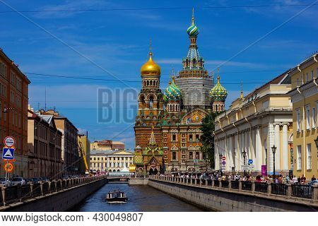 St. Petersburg, Russia, July 2021: Church Of The Savior On Spilled Blood In St. Petersburg.