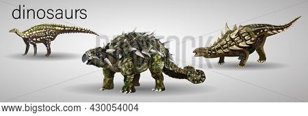 Dinosaurs Cartoon Collection, Colorful Set Of Fantasy Cute Monsters, Animals And Prehistoric Charact