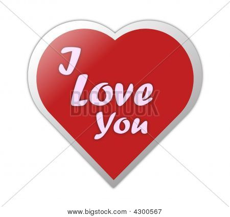 Heart Symbol Love You Written On Image Photo Bigstock