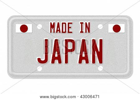 Made In Japan License Plate