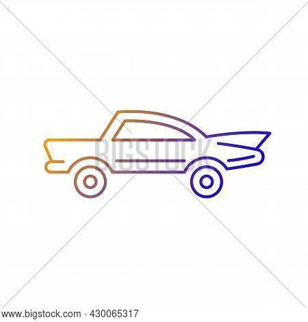 Classic Car Gradient Linear Vector Icon. Nostalgic Value. Vintage Automobile. Original Production Mo