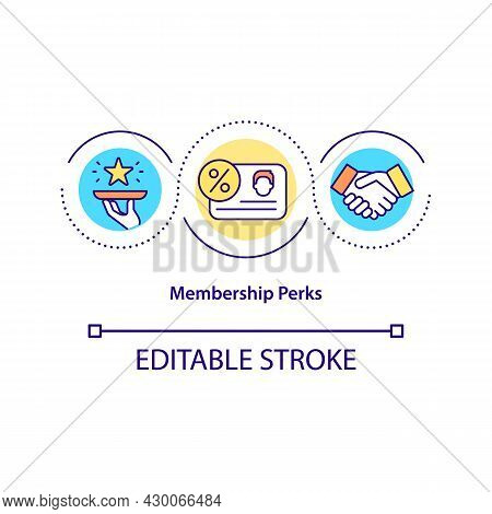 Membership Perks Concept Icon. Privilege For Loyal Customers Abstract Idea Thin Line Illustration. B