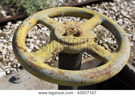 Old Yellow Wheel Valve