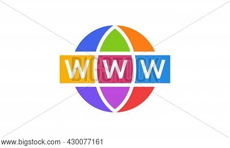 Web Icon Flat Isolated. Website Pictogram. Internet Symbol Web Site Design, Logo, App, Vector Illust