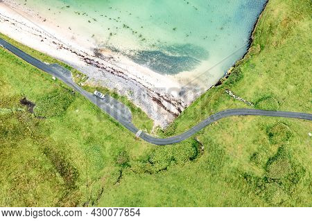 Aerial View Of St. Johns Point, County Donegal, Ireland