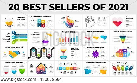 20 Best Sellers Of 2021. Infographic Presentation Templates. From Business, Creative Thinking And Di