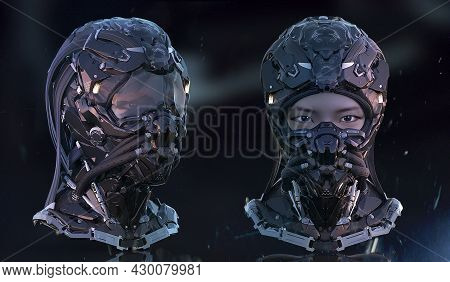 3d Rendered Digital Generated Mix Media Concept Design Of Front View Sci Fi Futuristic Science Ficti