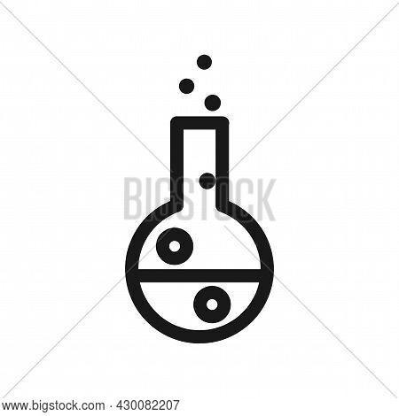 Test Tube Icon. Test Tube Simple Line Icon. Vitro Isolated Icon.