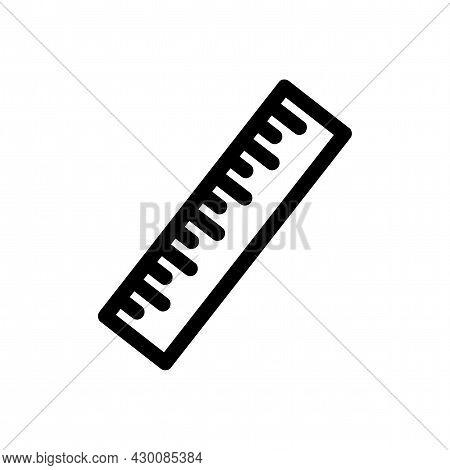 Measurement Ruler Vector Icon. Measurement Ruler Line Icon.