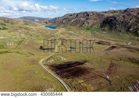 The Road To An Port Between Ardara And Glencolumbkille In County Donegal - Ireland.