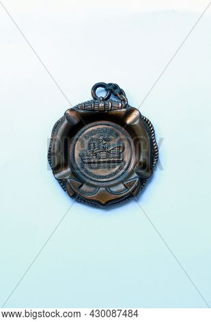 Jakarta, Indonesia-august 16, 2021: Wall Decoration In Bronze With Hongkong Convention And Exhibitio