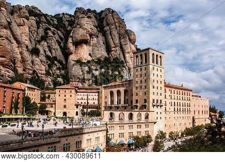 Montserrat, Spain - May 12, 2011: Santa Maria De Montserrat Is An Abbey Of The Order Of Saint Benedi