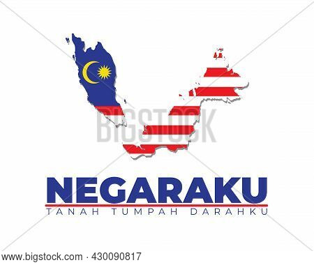 Malaysia Map In Flag Colour,