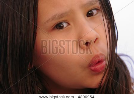 Surprise In Young Girl Close Up