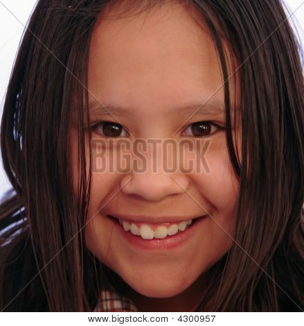 Joy In Young Girl Close Up