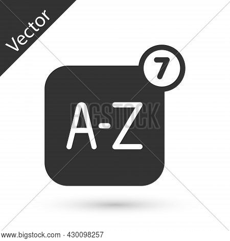 Grey Online Translator Icon Isolated On White Background. Foreign Language Conversation Icons In Cha