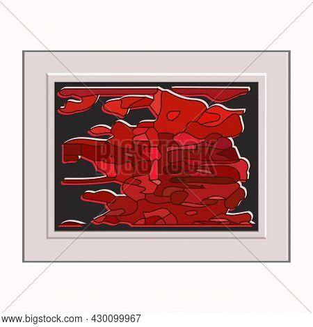Abstract Composition, Artistic Frame - Vector Illustration. International Artist's Day. Creative Art