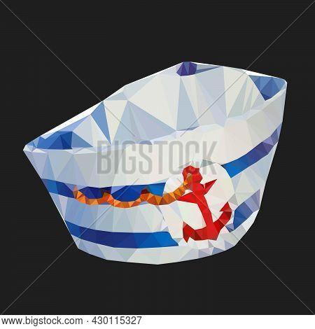 Sailor Cap.triangular Vector Illustration Isolated On White Background Eps10.
