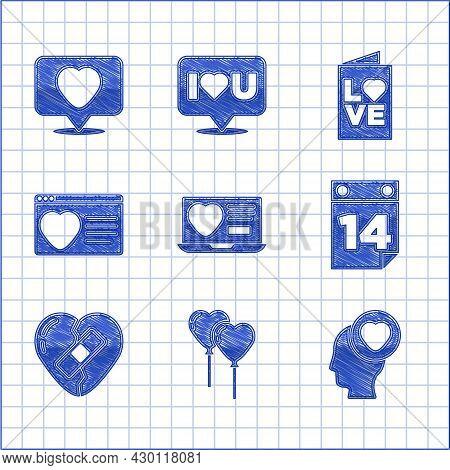 Set Dating App Online, Balloons Form Of Heart, Head With, Calendar February 14, Healed Broken, Valen
