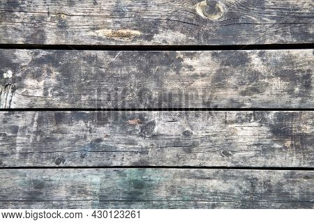 Close Up Rustic Wood Plank In Vintage Style. Surface Of Old Wooden Plank Close-up.