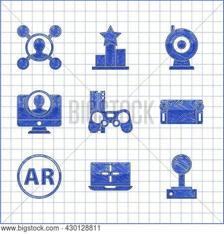 Set Game Console With Joystick, Laptop, Joystick For Arcade Machine, Portable Video Game, Ar, Augmen