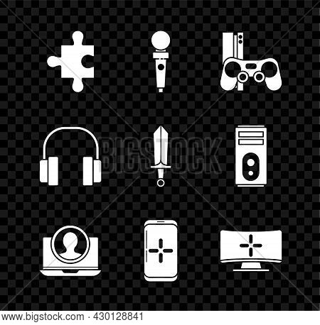 Set Piece Of Puzzle, Joystick For Arcade Machine, Game Console With Joystick, Create Account Screen,