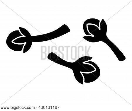 Cloves Spices Vector The Outline Image For The Logo Or Icon. Spices Dried Clove - An Element For Sig