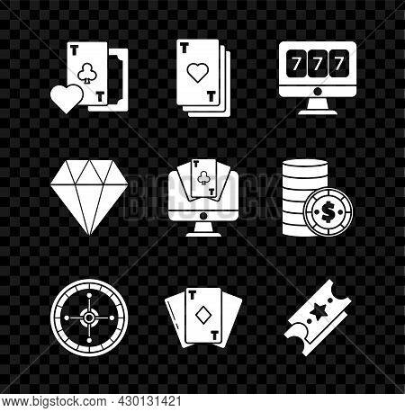 Set Playing Card With Clubs Symbol, Heart, Online Slot Machine Lucky Sevens Jackpot, Casino Roulette