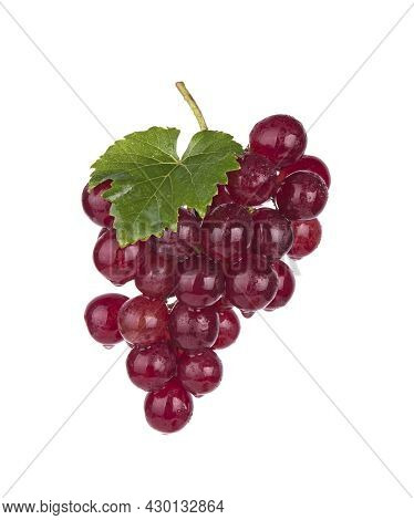 A Red Grape Isolated On White Background