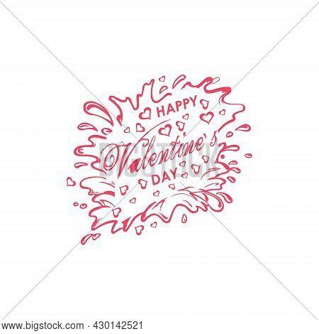 Happy Valentine's Day Vector Background Pattern And Typography Typography Of Happy Valentines Day Te