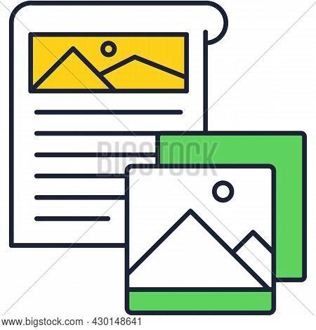 Smm Planner Vector Icon Flat Outline Design