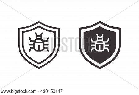 Antivirus Icon On White Background. Vector Illustration.