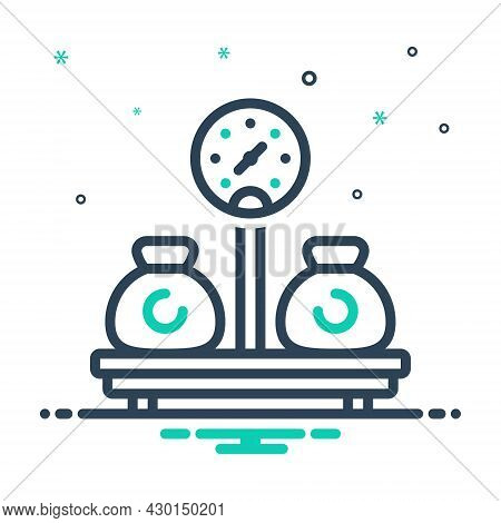 Mix Icon For Weight Sinker Encumbrance Stowage Heaviness Mass Load Burden Pressure