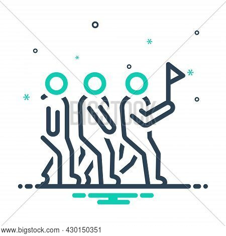 Mix Icon For Leadership Sloganeering Catchphrase Group Shibboleth Lead Hegemony Pilotage Guidance Au