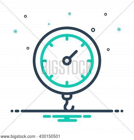 Mix Icon For Weight Heft Meterage Ponderosity Sinker Encumbrance Stowage Heaviness Pressure