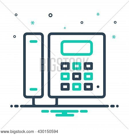 Mix Icon For Telephone Cellular Landline Gadget Device Communication Phone Call Contact Connection A