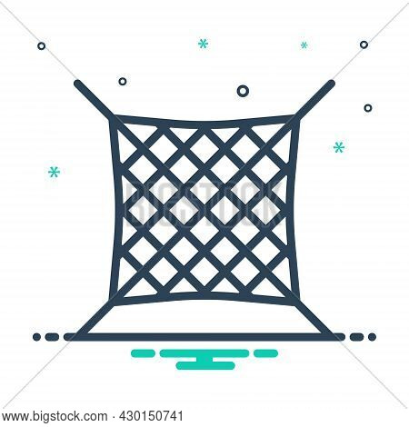 Mix Icon For Net Grid Mesh Protection Trap Catch Fishery Safety Safety-net