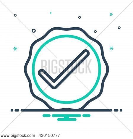 Mix Icon For Okay Acceptance Approval Tick Checkmark Checkbox Survey Accept Inquiry