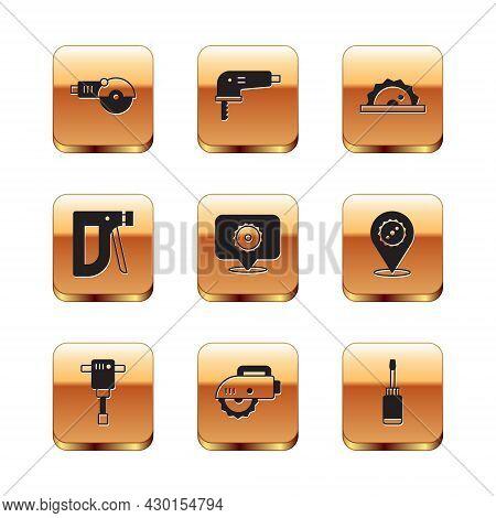 Set Angle Grinder, Construction Jackhammer, Electric Circular Saw, Circular Blade, Stapler, Screwdri