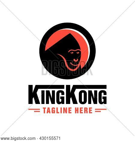 King Kong Illustration Logo Design King Of The Jungle