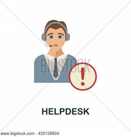 Helpdesk Flat Icon. Colored Sign From Customer Service Collection. Creative Helpdesk Icon Illustrati