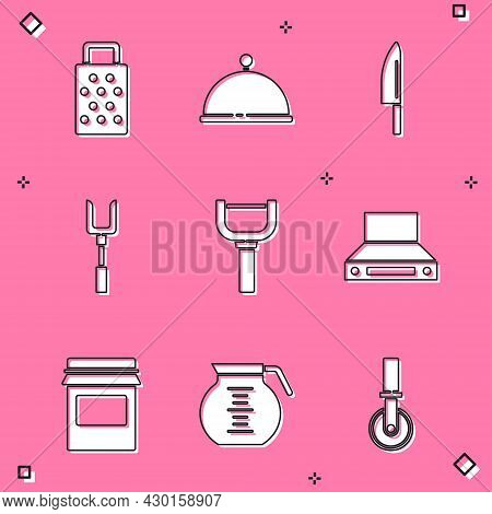 Set Grater, Covered With Tray, Knife, Barbecue Fork, Peeler, Kitchen Extractor Fan, Jam Jar And Coff