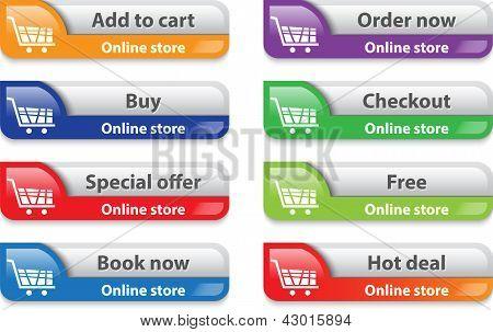 Online Store/shop Web Interface Elements