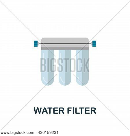 Water Filter Icon. Flat Sign Element From Eco Friendly Product Collection. Creative Water Filter Ico