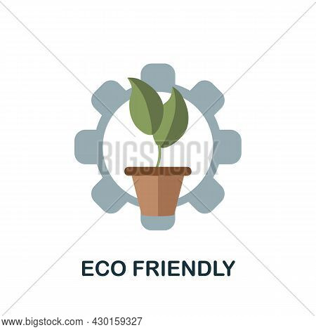 Eco Friendly Icon. Flat Sign Element From Eco Friendly Product Collection. Creative Eco Friendly Ico