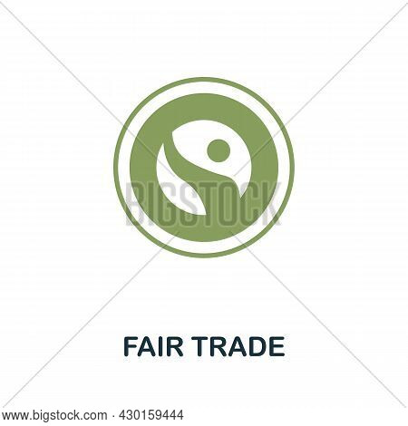 Fair Trade Icon. Flat Sign Element From Eco Friendly Product Collection. Creative Fair Trade Icon Fo